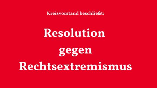 Bild Resolution gegen Rechtsextremismus