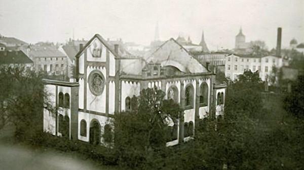 Alte Synagoge Rostock Ruine 1939