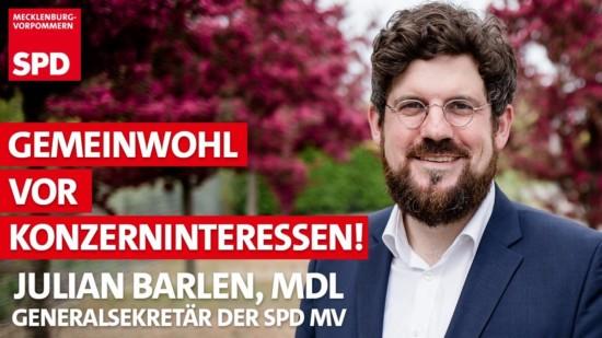 Julian Barlen Parchim Crivitz Klinik SPD