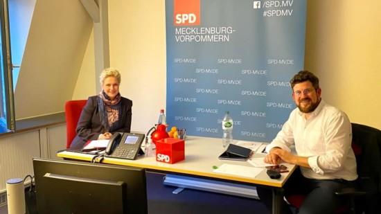 Landesvorstand tagt per Videokonferenz Manuela Schwesig Julian Barlen SPD MV