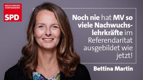 SPD Bettina Martin Bildung Nachwuchslehrkraefte MV